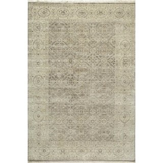 Villa Ornamental Hand-Knotted Taupe Rug (9'6 x 13'6)