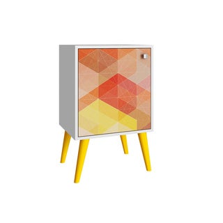 Accentuations by Manhattan Comfort Avesta Side Table with 2 Shelves