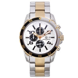 Aubert Freres Men's Two-tone Stainless Steel Robuchon Chronograph Sport Watch