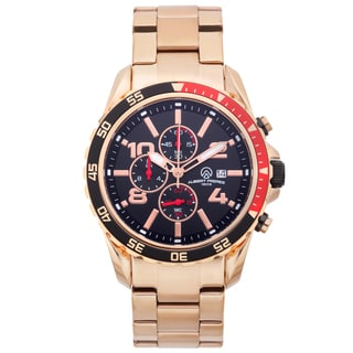 Aubert Freres Men's Rosetone Stainless Steel Robuchon Chronograph Sport Watch