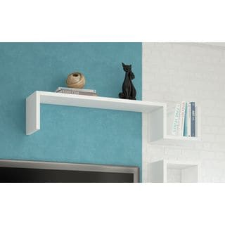 "Accentuations by Manhattan Comfort Zemmur ""S"" Shaped Floating Wall Mount Shelf"