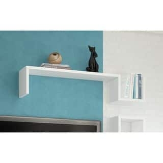 "Accentuations by Manhattan Comfort Zemmur ""S"" Shaped Floating Wall Mount Shelf