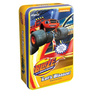 Blaze and the Monster Machines Let's Blaaaze Matching Game Tin