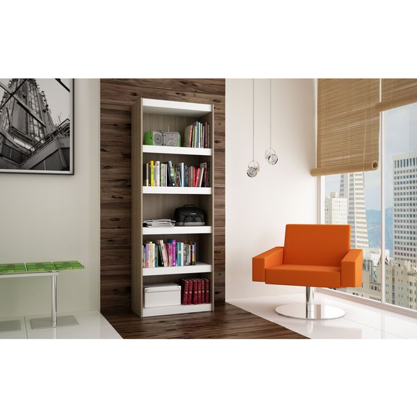 Wonderful Accentuations By Manhattan Comfort Valuable Parana Bookcase 3.0 With  5 Shelves