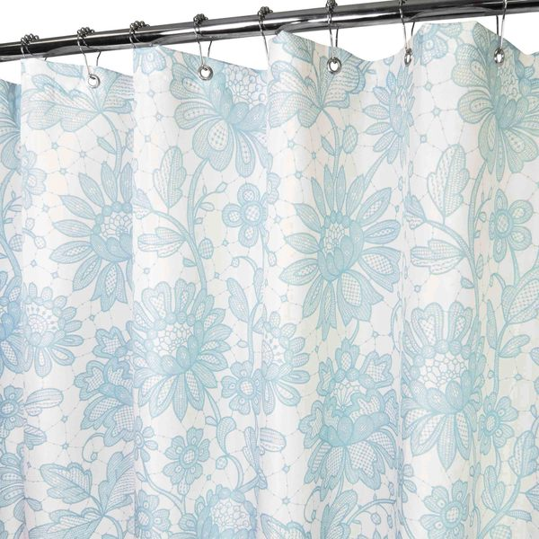 Park B. Smith Floral Lace Watershed Shower Curtain