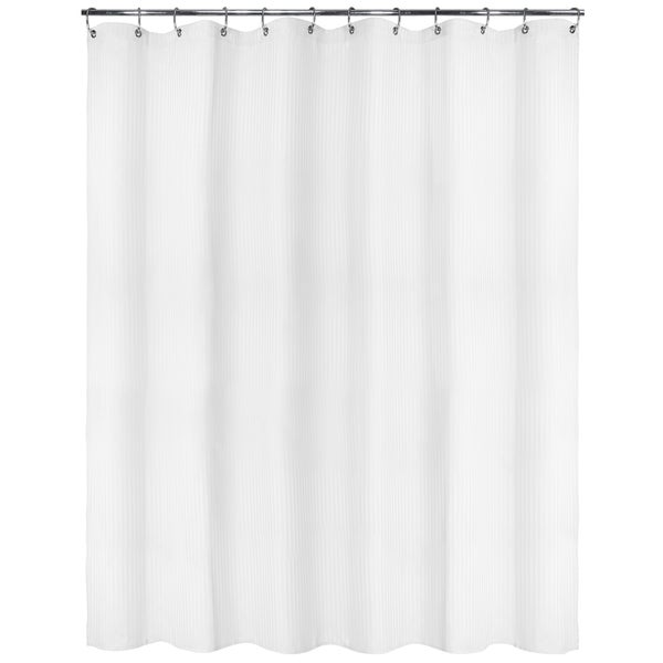 Park B. Smith Satin Stripe Watershed Shower Curtain with Bonus Hooks