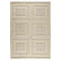 Handmade M.A.Trading Indian Bergamo White Rug (9' x 12') (India)
