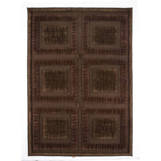 Indian Hand-knotted Bergamo Chocolate Rug (9' x 12')