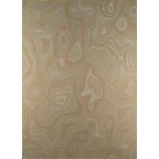 M.A.Trading Indian Hand-knotted Valley White Rug (5'6 x 7'10)