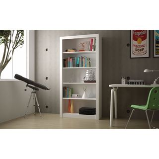 Accentuations by Manhattan Comfort Classic Olinda Bookcase 1.0 with 5-Shelves