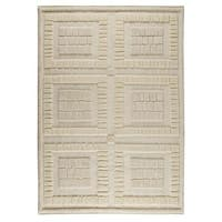 M.A.Trading Indian Hand-knotted Bergamo White Rug (8'3 x 11'6)