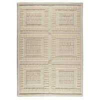 Handmade M.A.Trading Indian Bergamo White Rug (8'3 x 11'6) (India)