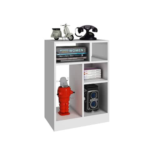 Manhattan Comfort Durable Valenca Bookcase 1.0 with 5-Shelves
