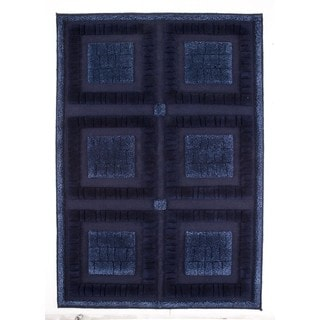 M.A.Trading Indian Hand-knotted Bergamo Blue Rug (8'3 x 11'6)