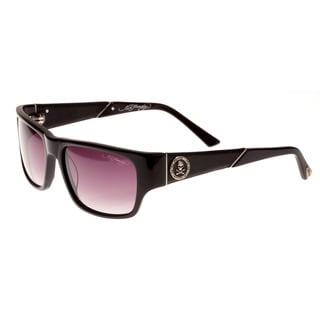 Ed Hardy Skull and Crossbones Black Grey Gradient 56 17 135 Sunglasses