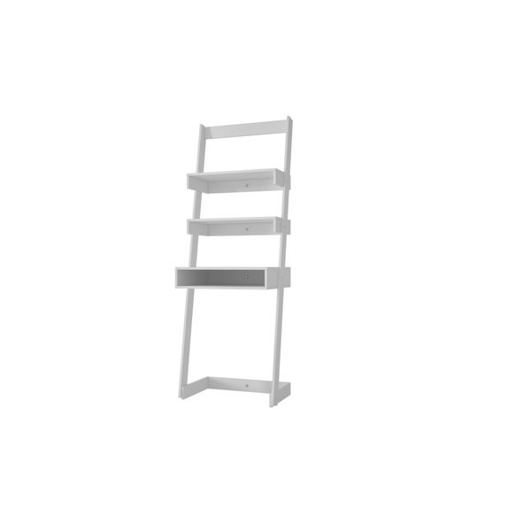 Accentuations By Manhattan Comfort Urbane Carpina Ladder Desk With 2  Floating Shelves And 1 Tabletop And Cubby   Free Shipping Today    Overstock.com   ...