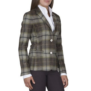 Robert Talbott Lauren Wool 2-Button Blazer