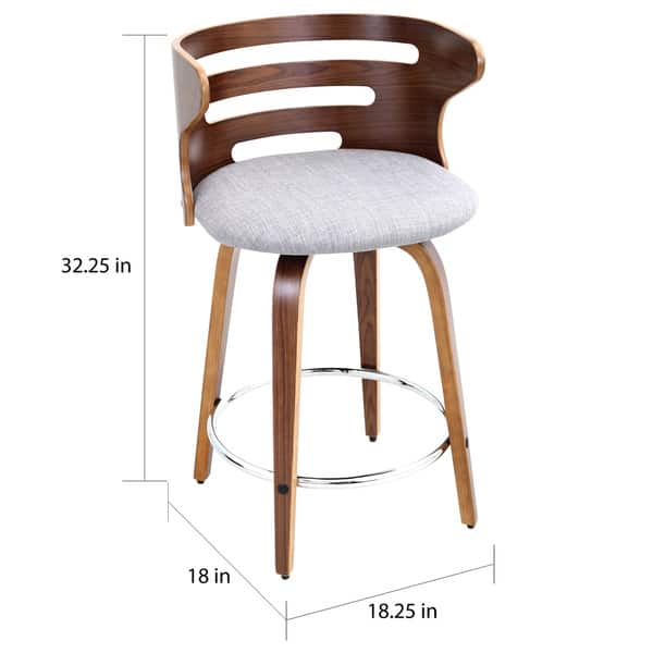 Excellent Shop Cosini 24 Mid Century Modern Counter Stool In Walnut Beatyapartments Chair Design Images Beatyapartmentscom