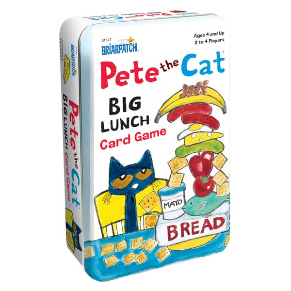 Pete The Cat Big Lunch Card Game Tin Overstock 11494333