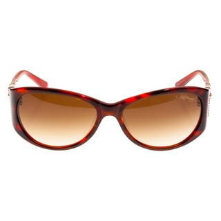 Ed Hardy Jumping Koi Red Horn Brown Gradient 58 16 130 Sunglasses