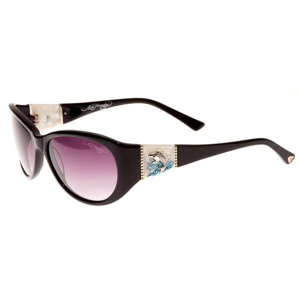 bb46b4f472 Shop Ed Hardy Jumping Koi Black Purple Gradient 58 16 130 Sunglasses - Free  Shipping Today - Overstock.com - 11494349