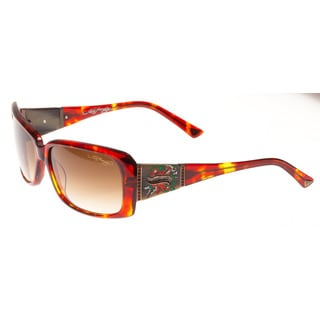 Ed Hardy Heart and Dagger Tortoise Brown Gradient 58 15 135 Sunglasses