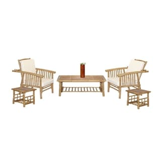 Mikong Handcrafted 6-piece Outdoor Patio Set