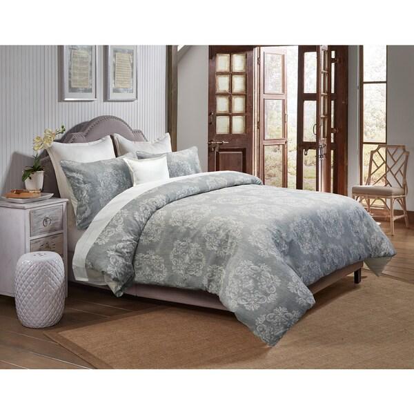 Grand Luxe Carmelle Linen 3-piece Duvet Cover Set
