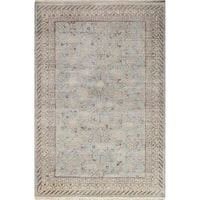Momeni Palace Light Blue Hand-Knotted Wool Rug (8'6 X 11'6)