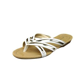 Bandolino Women's 'Naccari' White Synthetic Sandals