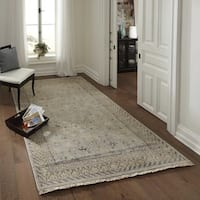 "Momeni Palace Light Blue Hand-Knotted Wool Rug - 5'6"" x 8'6"""