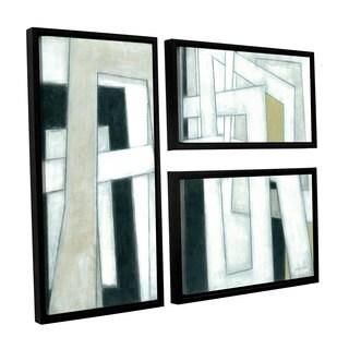 ArtWall Norman Wyatt JR's ' Bridges' 3-Piece Floater Framed Canvas Flag Set
