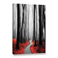 ArtWall Niel Hemsley's Red Leafs IV Gallery Wrapped Canvas