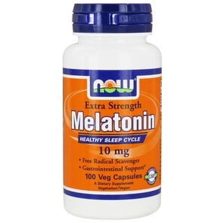 Now Foods 10 mg Melatonin (100 Veggie Caps)