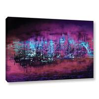ArtWall Niel Hemsley's Neon City II Gallery Wrapped Canvas