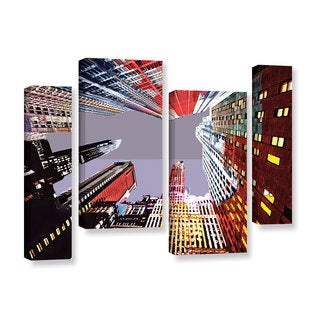 ArtWall Niel Hemsley's Look Up 4-piece Gallery Wrapped Canvas Staggered Set