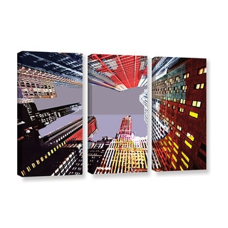 ArtWall Niel Hemsley's Look Up 3-piece Gallery Wrapped Canvas Set
