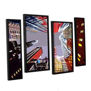 ArtWall Niel Hemsley's Look Up 4-piece Floater Framed Canvas Staggered Set