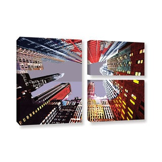 ArtWall Niel Hemsley's Look Up 3-piece Gallery Wrapped Canvas Flag Set