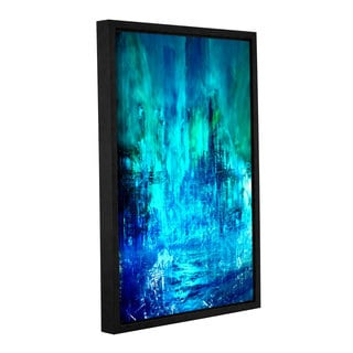 ArtWall Niel Hemsley's Green To Blue Gallery Wrapped Floater-framed Canvas