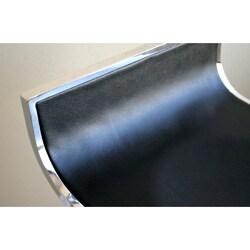 "Modern Silver Metal 21-30"" Adjustable Bar Stool by Baxton Studio"
