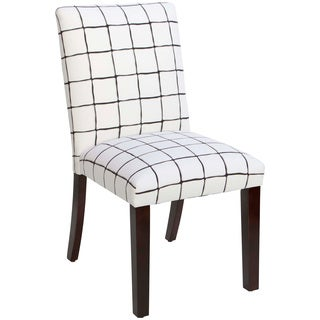 Skyline Furniture Uptown Painted Check Ink Dining Chair