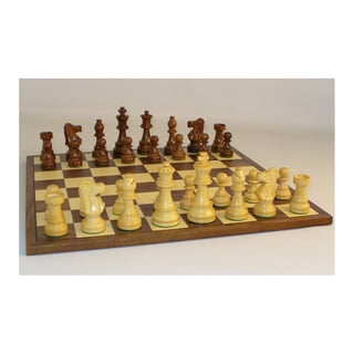 35-inch Sheesham French Chess Set with Walnut Board