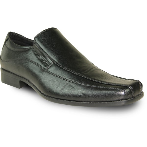 BRAVO Men Dress Shoe MONACO-1 Loafer Black