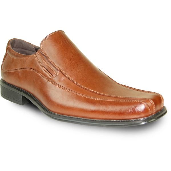 BRAVO Men Dress Shoe MONACO-1 Loafer Brown