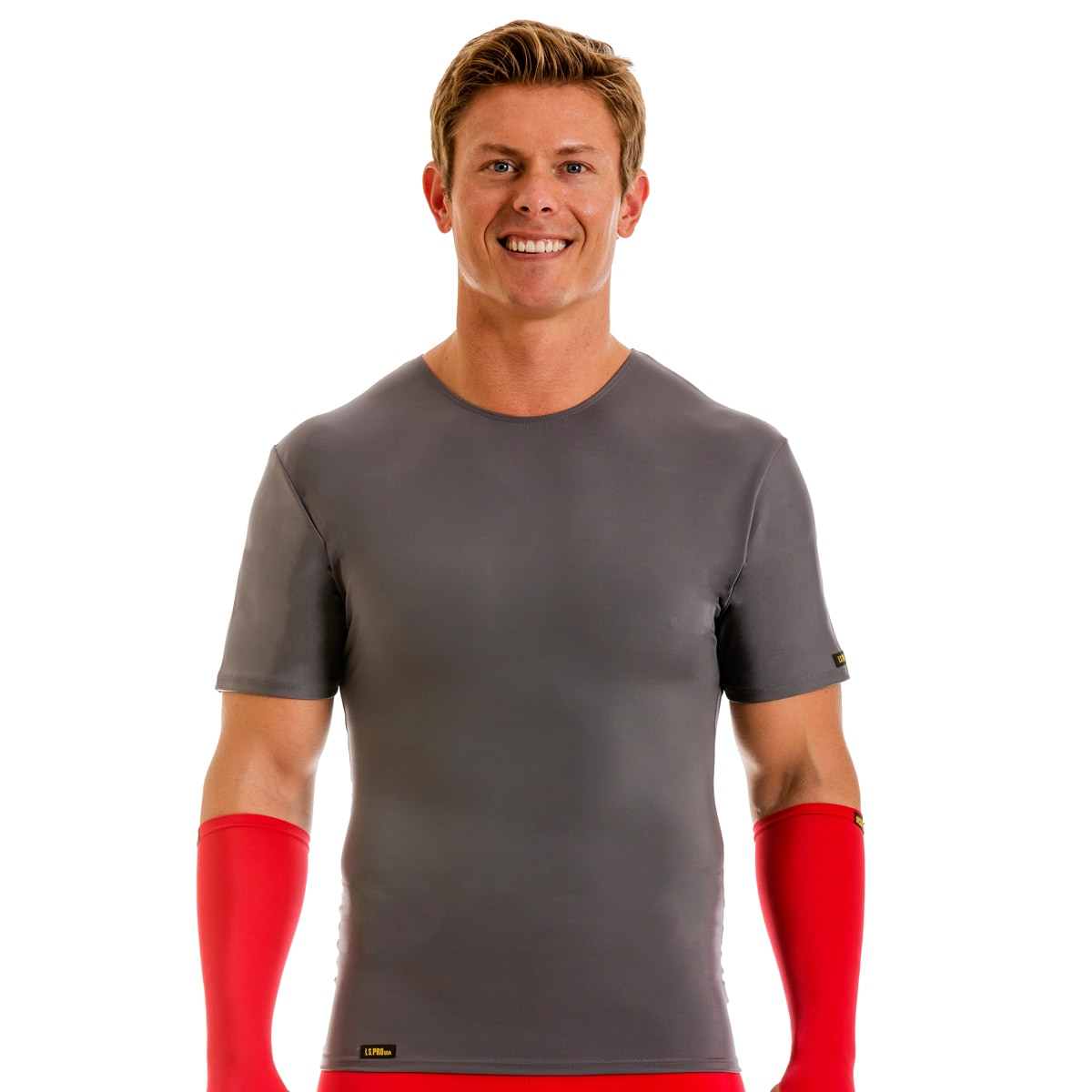 Insta Slim Men's Pro Active Wear Compression Crew-neck T-...