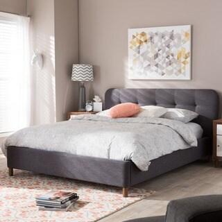 Carson Carrington Alingsas Mid-century Modern Tufted Platform Bed