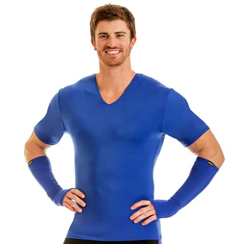 Insta Slim Pro Men's Active Wear Compression V-neck T-shirt