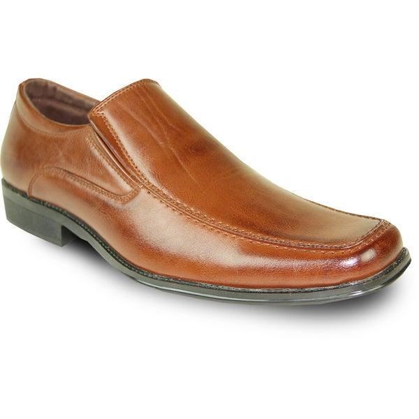 BRAVO Men Dress Shoe MONACO-2 Loafer Brown