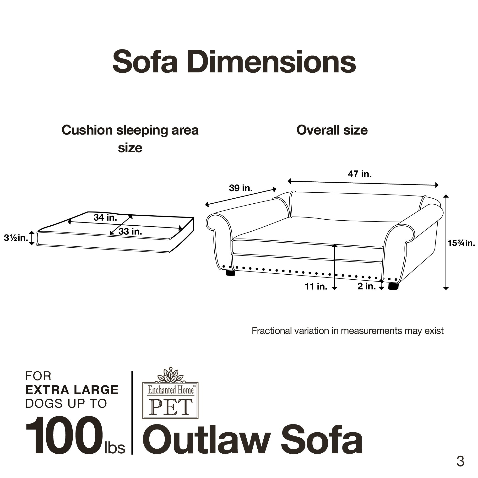 Foster & Smith Enchanted Home Pet Ultra Plush Outlaw Bed ...